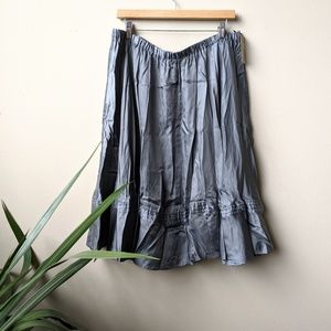 Pure DKNY Delivery Charcoal Gray Pleated Skirt szL